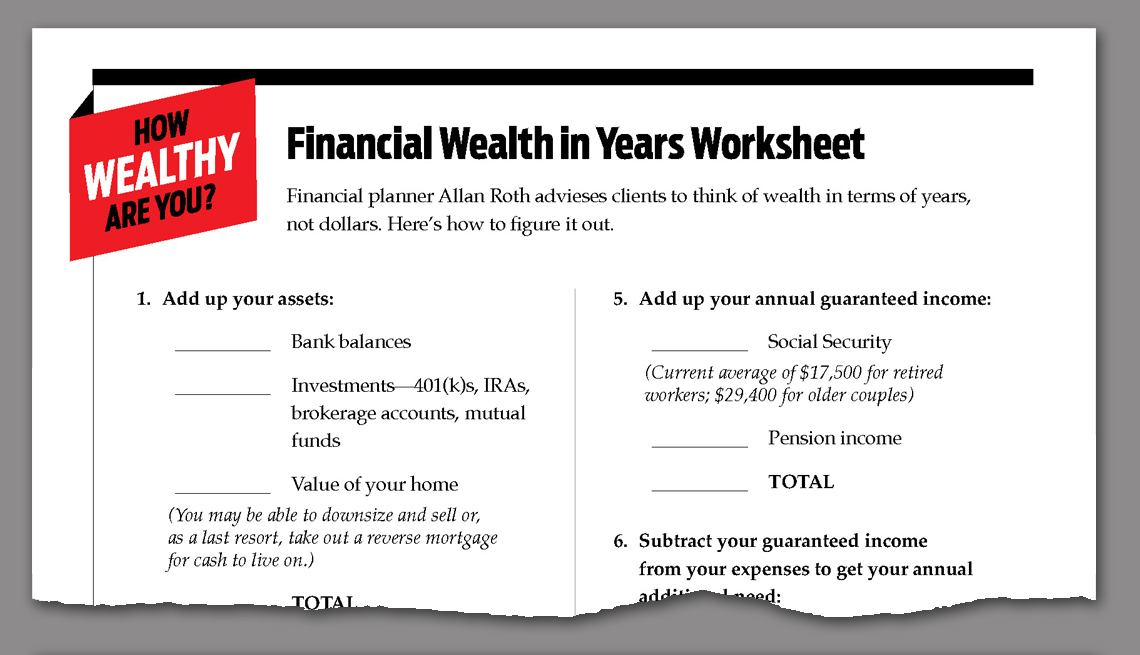 link to downloadable worksheet on financial wealth