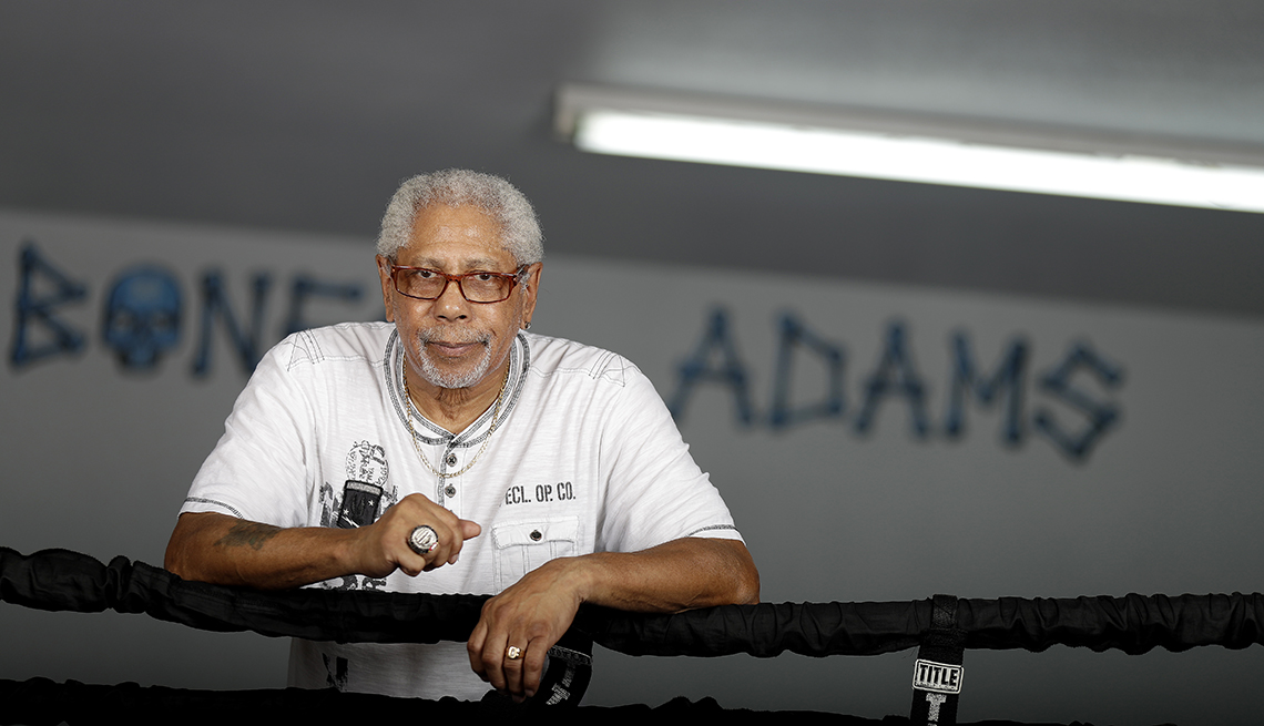 item 5 of Gallery image - Boxing trainer Kenny Adams works at a gym Wednesday, Oct. 3, 2018, in Las Vegas.