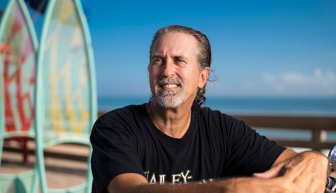 Mark Stevens en Ormond Beach, Florida., septiembre, 2018