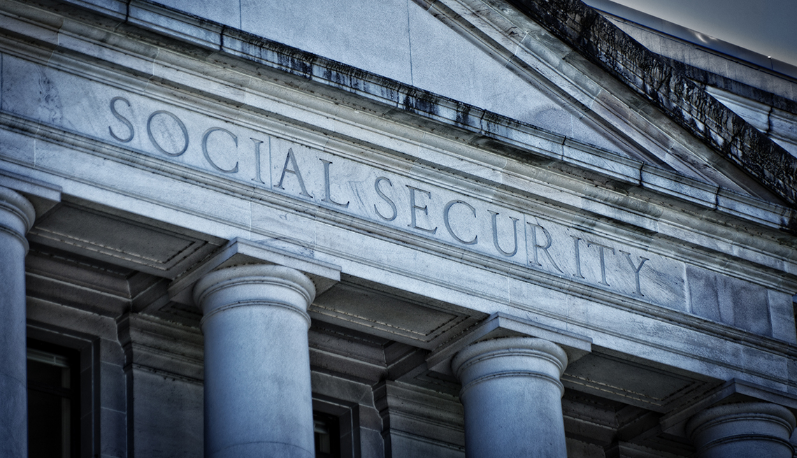 item 4 of Gallery image - Social Security sign on exterior of building