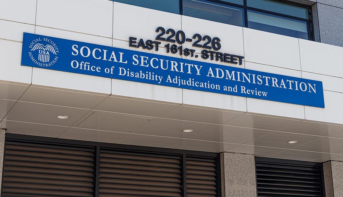 Fachada de una oficina de la Adjudicación de discapacidad y revisión del Seguro Social.