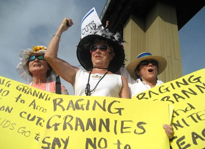 raging grannies picketing