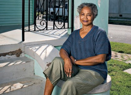 Retired contractor Shirley Thomas in the 7th Ward of New Orleans