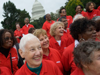 AARP members urge members of congress to protect Social Security, Medicare from budget cuts.