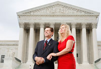 Doug and Pam Sterner in front of the Supreme Court in Washington, D.C
