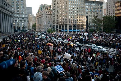 Crowd, Occupy Wall Street Demonstration slideshow