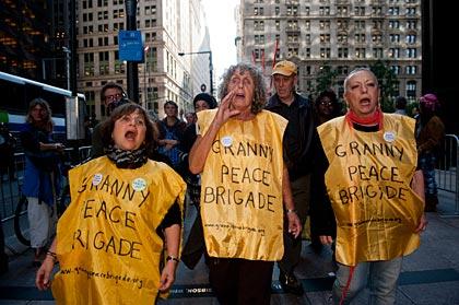 Granny Peace Brigade, Occupy Wall Street Demonstration slideshow