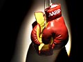 Boxing gloves with AARP logo show commitment to fight cuts in Medicare and Social Security