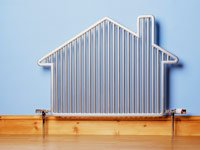 House-shaped radiator