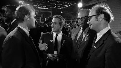 Paul Newman at the 1968 Democratic convention