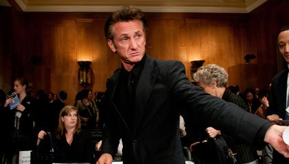 Sean Penn attends hearing about Haiti in Washington D.C.