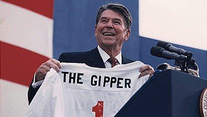 El presidente Ronald Reagan tiene