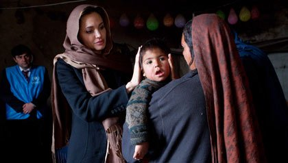 Political Activist Angelina Jolie in Afghanistan