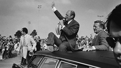President Gerald Ford and John Wayne campaign in California