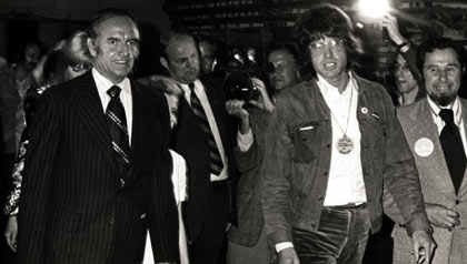 Warren Beatty and Senator George McGovern in 1972