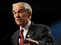 PHOENIX, AZ - FEBRUARY 26: Rep. Ron Paul (R-TX) addresses the crowd at the Tea Party Patriots American Policy Summit at the Phoenix Convention Center February 26, 2011 in Phoenix, Arizona