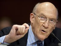 Mar. 8, 2011 - Washington, District of Columbia, U.S. - Former Senator Alan Simpson (R-WY), co-chairmen of the National Commission on Fiscal Responsibility and Reform, testifies before a Senate Budget Committee hearing on the report of the National Commission on Fiscal Responsibility and Reform.