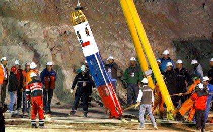 Cápsula Fenix que fue usada en el restate de los mineros chilenos