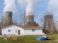 Casa en inmediaciones de una planta nuclear.