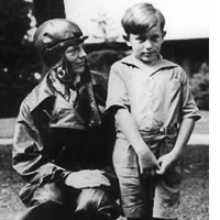George Putnam Jr with Amelia Earhart