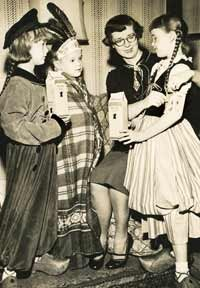 Mary Emma Allison and her children, from left, Mickey, Monroe and Mary Jean in October 1954.