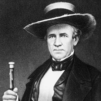 Sam Houston, first president of the Republic of Texas, 1836