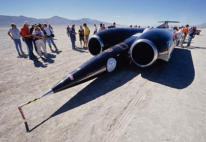 ThrustSSC jet propelled car, Andy Green, 1997