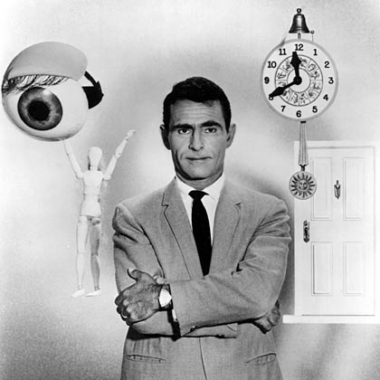 Red Serling's The Twilight Zone premiers, 1959