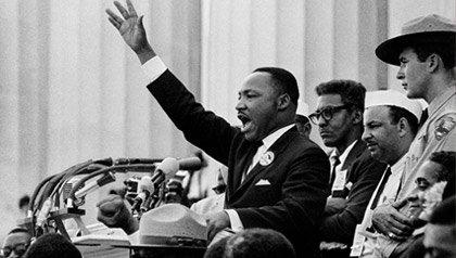 Martin Luther King, Jr Delivering His