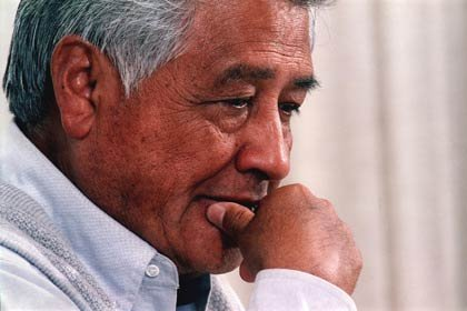 César Chávez, a couple of weeks before his death on April 23, 1993.  The civil and labor rights activist founded the National Association of Farm Workers in 1962, which would become the United Farm Workers (UFW) union in 1966.
