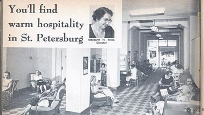 AARP's hospitality center in St. Petersburg in 1961.