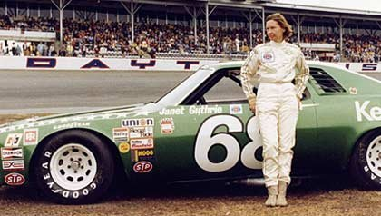 Janet Guthrie the first female NASCAR driver at the 1977 Daytona Beach 500 Winston cup