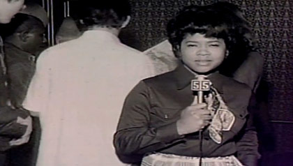 First African American female television news reporter Belva Davis at a young age