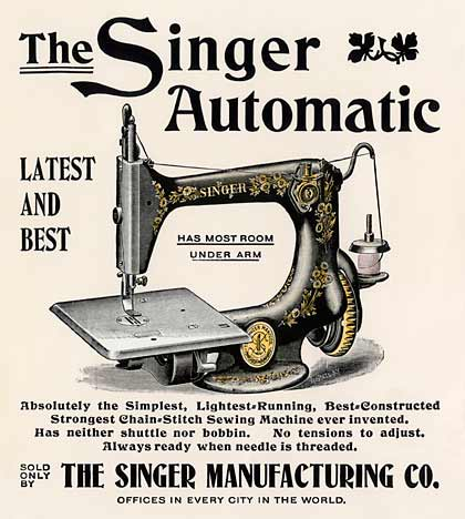 Isaac Singer sewing machine patent 1851