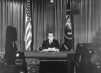President Richard Nixon resignation of the Presidency 1974.