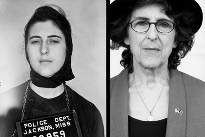 Left: Police photo of Carol Silver in 1961; right: Silver in 2007