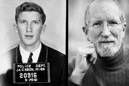 Left: Police photo of David Fankhauser in 1961; right: Fankhauser in 2006