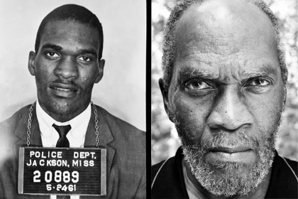 Left: Police photo of Frank Holloway in 1961; right: Holloway in 2007