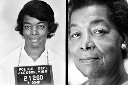 Left: Police photo of Helen Singleton in 1961; right: Singleton in 2005