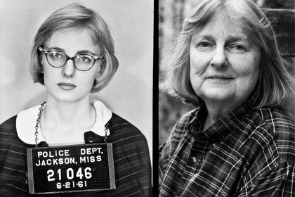 Left: Police photo of Margaret Leonard in 1961; right: Leonard in 2007