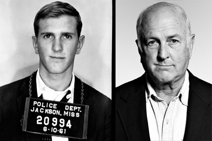 Left: Police photo of Stephen Green in 1961; right: Green in 2005
