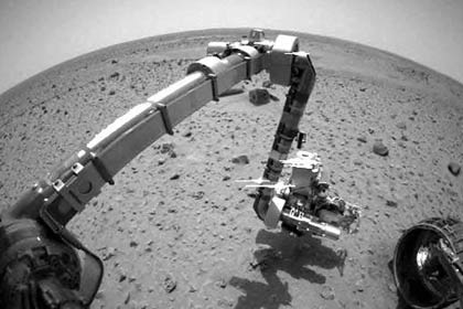 space exploration - robot on Mars