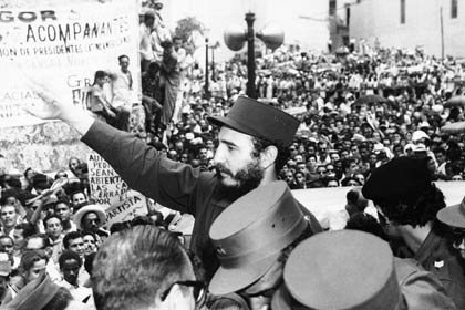 Fidel Castro addresses Cuban people in 1959