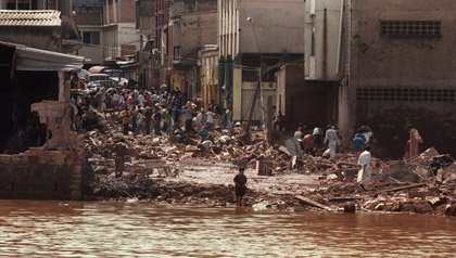 Devastation of Hurricane Mitch in 1998