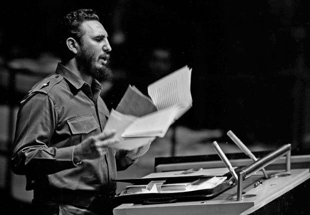 Fidel Castro habla en la Asamblea General de las Naciones Unidas, 1960.
