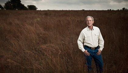George W. Bush portrait on his ranch in Crawford, Texas; 10/23/2010