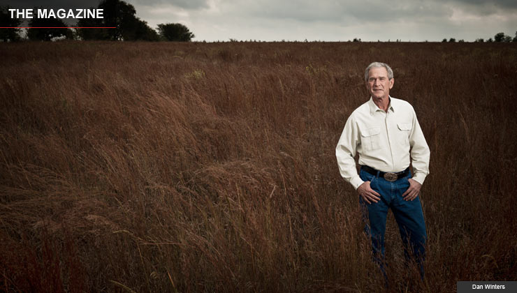 George W Bush at his ranch in Crawford, TX, October 23, 2010