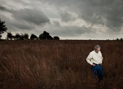 George W. Bush portrait on his ranch in Crawford, Texas; 10/23/2010