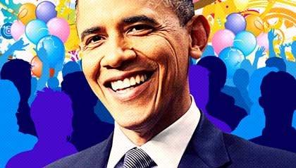 Ilustración de Barack Obama: El presidente Barack Obama cumple 50 años el 4 de Agosto de 2011