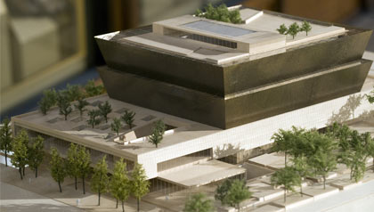 model of National Museum of African American Art